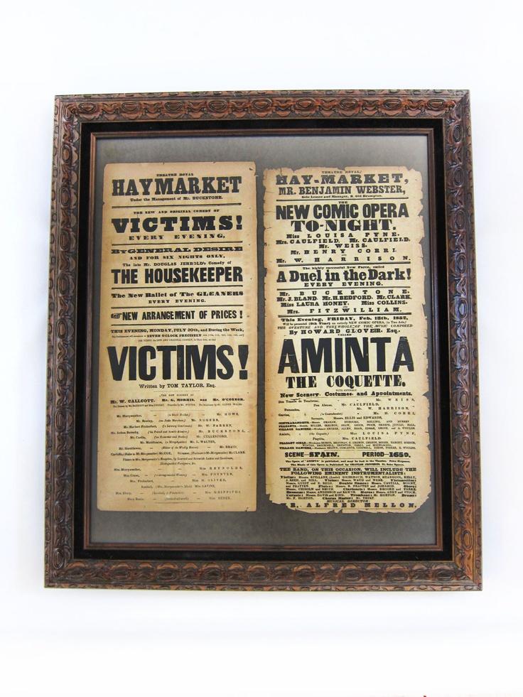 Victorian theater playbills