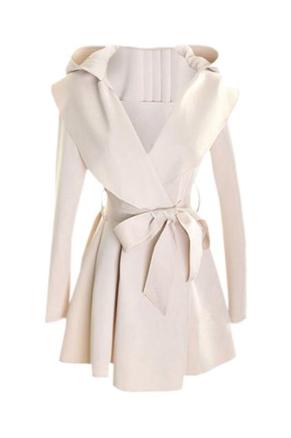 Trench Coat: Hoods Windcoat, Hoods Cream Colors, Fashion Clothing, Sleeve Hoods, Cream Colors Trench, Long Hoods, Trench Coats, Hoods Coats, Slim Hoods