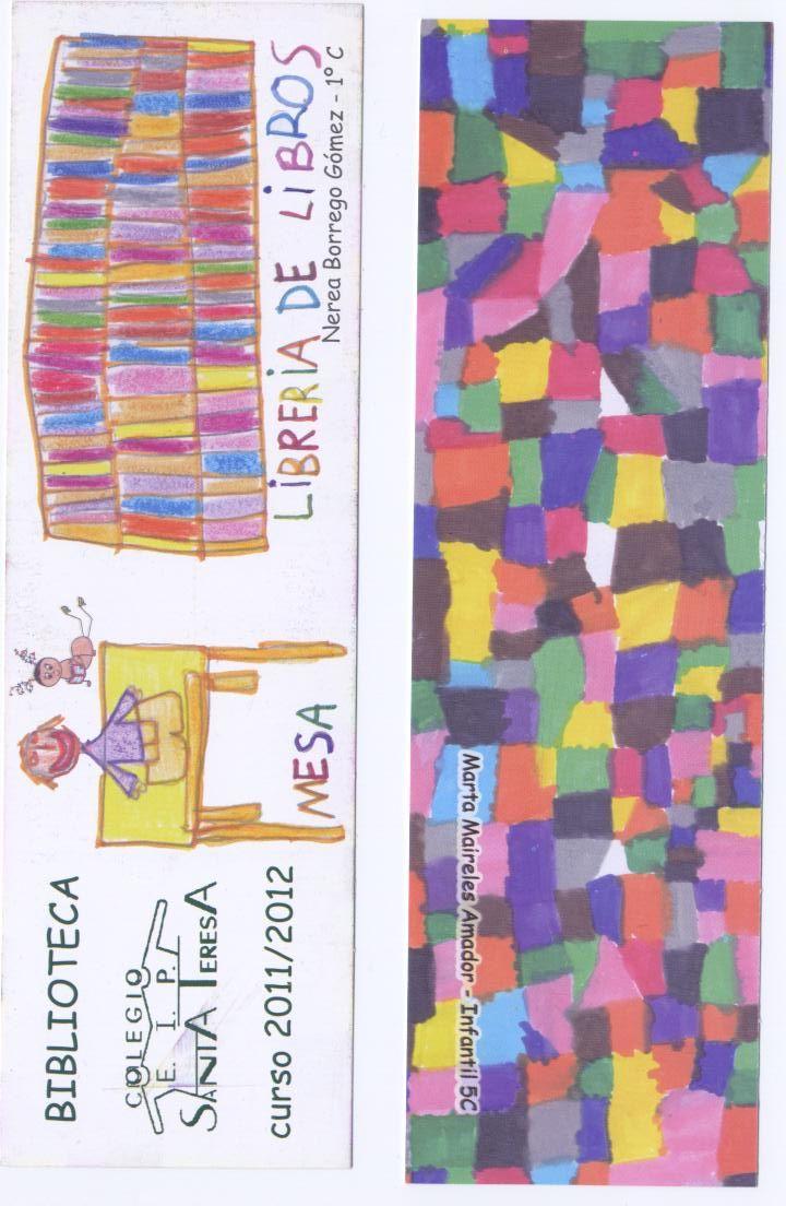 Marcapáginas elegidos en el concurso de marcapáginas de la biblioteca.