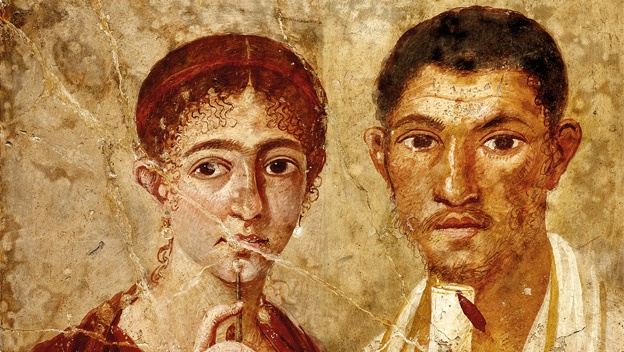 Portrait of baker Terentius Neo and his wife. Pompeii, AD 55–79. © DeAgostini/SuperStock.: Terentius Neo, Ancient History, Life And Death, Romans Empire, Wall Paintings, Baker Terentius, British Museums, House, Pompeii