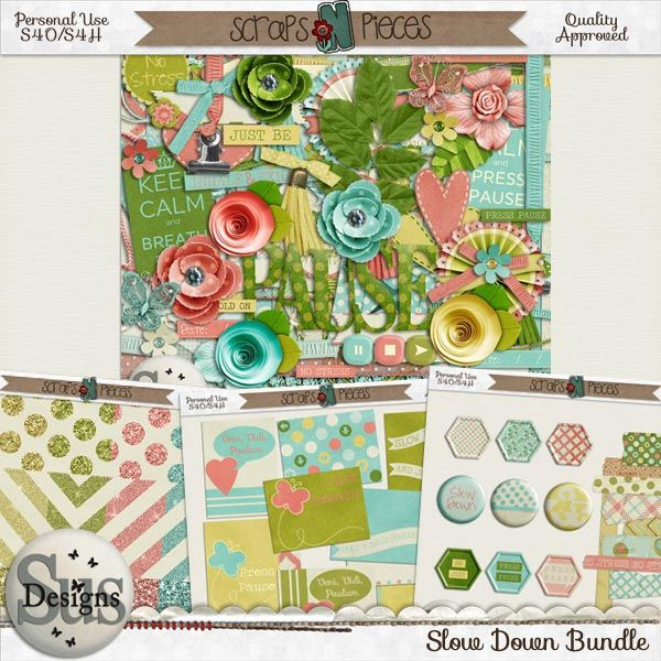 Slow Down Bundle #SusDesigns #DigiScrap #Scrapbook #ScrapsNPieces