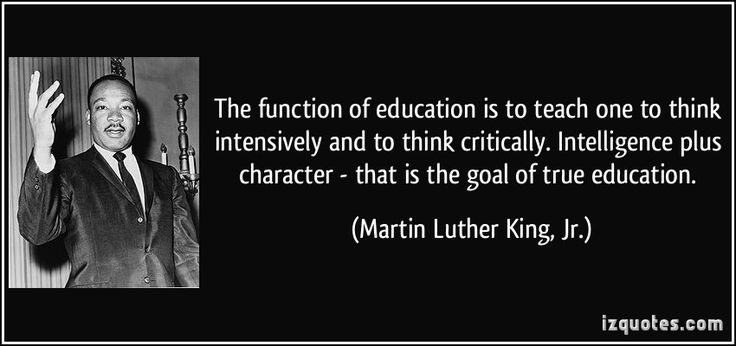 Image result for martin luther king jr quotes on education