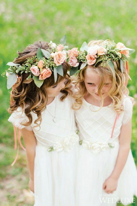 Trendy Flowers Girl Crown Floral Headbands Ideas
