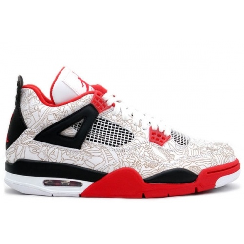 Air Jordan Retro 4 laser white varsity red black 308497-161