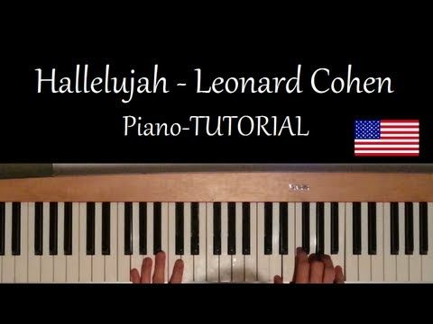 How to play Hallelujah by Leonard Cohen on Piano - Tutorial