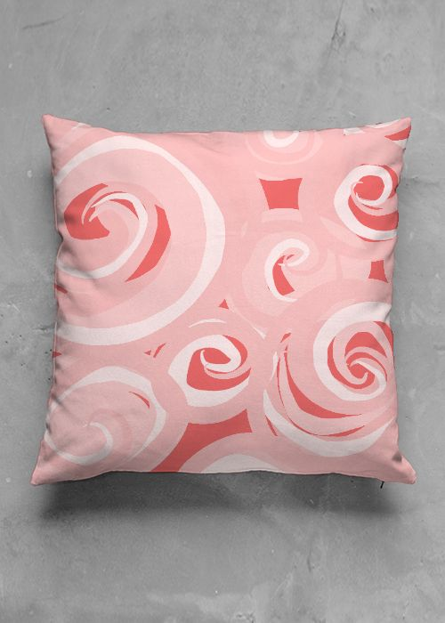Pink Waves- luxury pillow design by Charles Bridge 7x  buy in my Vida collection