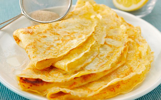 Egg-cellent Pancakes - simple with lemon and sugar but still yummy.