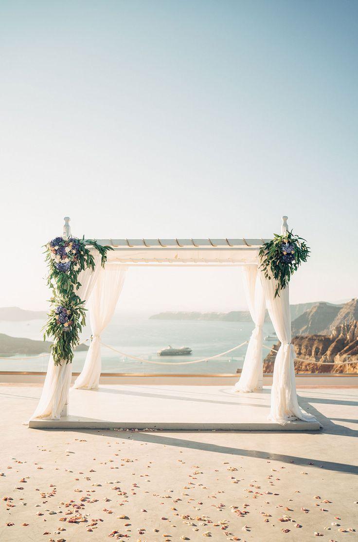 Santorini Wedding Photos by Donna Irene Weddings