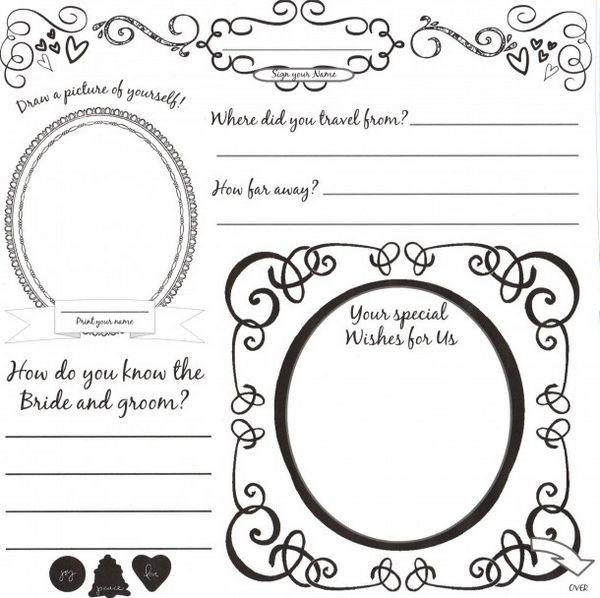 Free Wedding Book: Diy Wedding Guestbook Templates