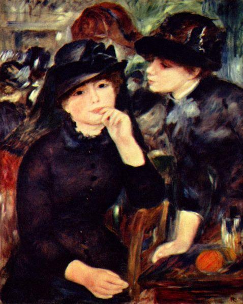 Pierre-Auguste Renoir. Two Girls in Black.