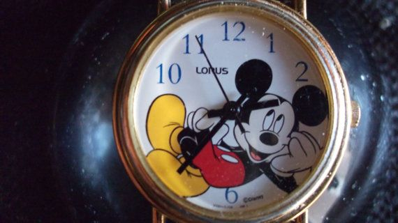 Vintage Lorus Mickey Mouse Watch Disney watch by The10DollarShop, $10.00