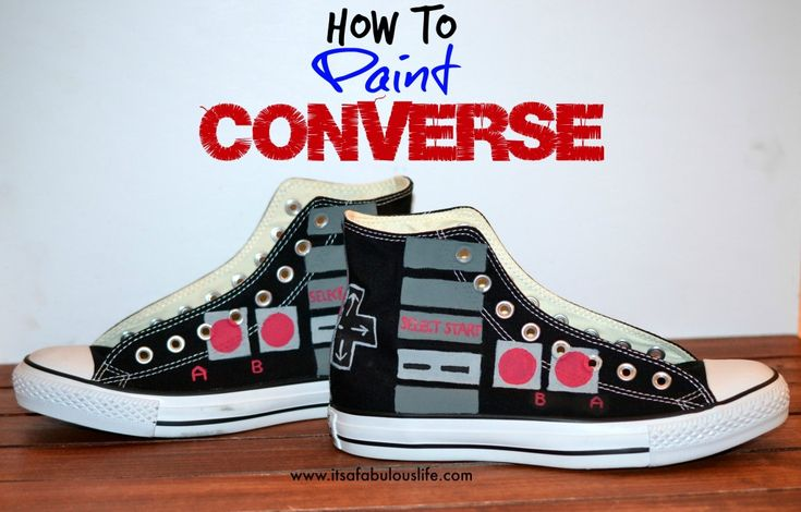 How To Paint Converse