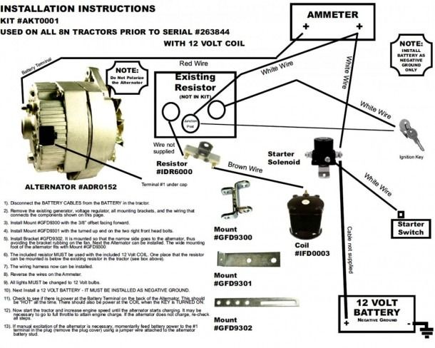 8n Ford Tractor Wiring Diagram 8n Ford Tractor Alternator Ford Tractors