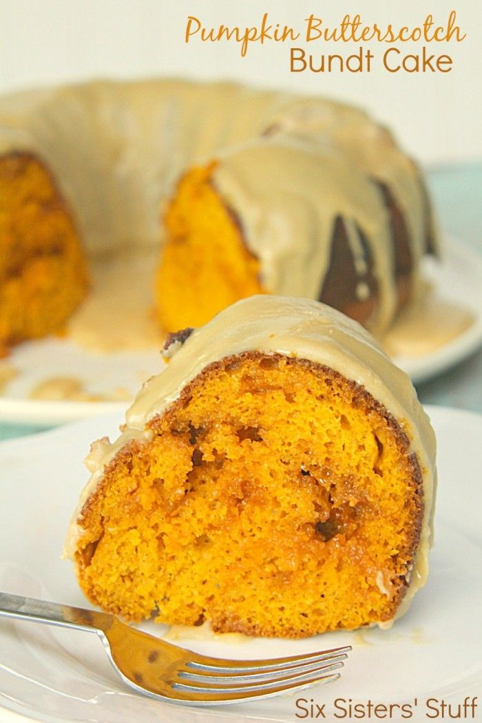 Pumpkin Butterscotch Bundt Cake Recipe from SixSistersStuff.com
