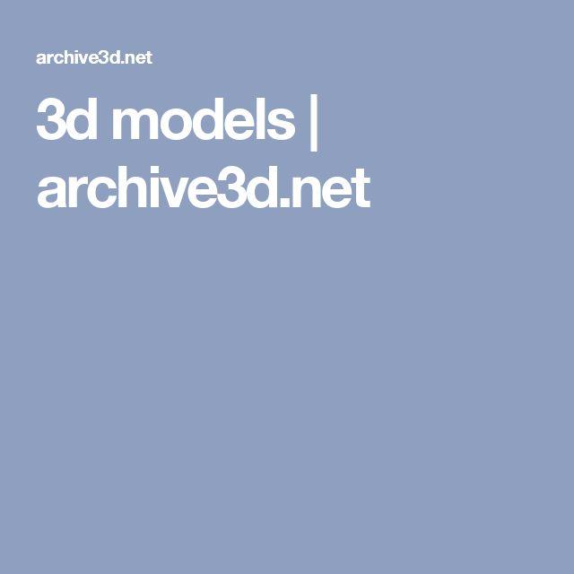 3d models | archive3d.net