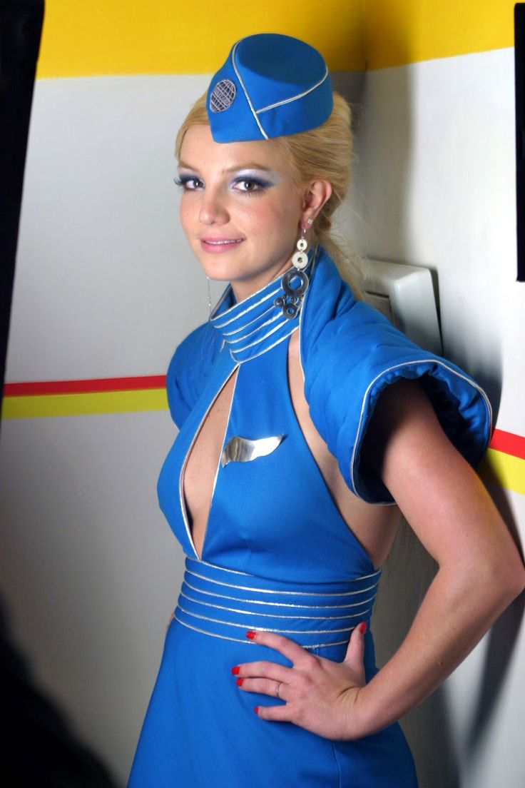 Britney Spears flight attendant costume from film clip ...