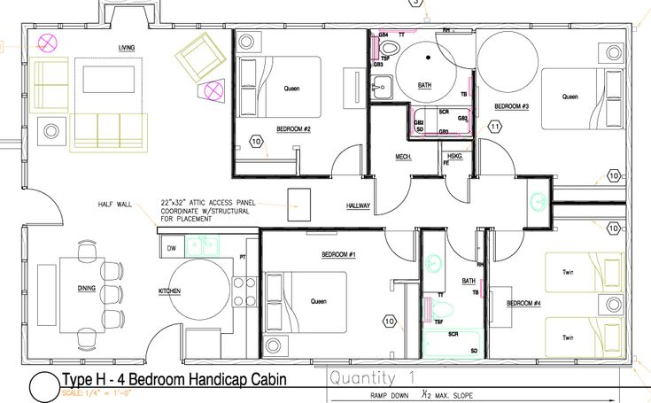 Wheelchair Accessible Floor Plans Trend Handicap