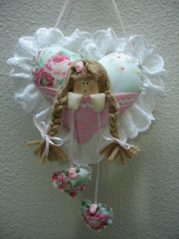 Coração de menina - coleção quarto de bebê menina flor | par Angela Cherem Atelier
