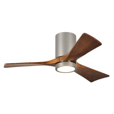 42 Trost 3 Blade Hugger Ceiling Fan With Wall Remote And Light