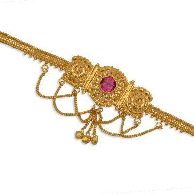 Traditional Gold Jewellery, Maharashtrian Marathi Ornaments, Designer Diamond Jewellery-DANDAPATTI