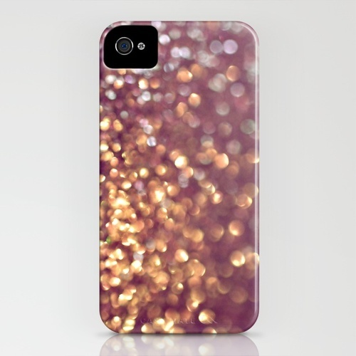 Mingle iPhone Case. Out of focus glitter effect in gold and purple, my two favorite colors. What's not to love?