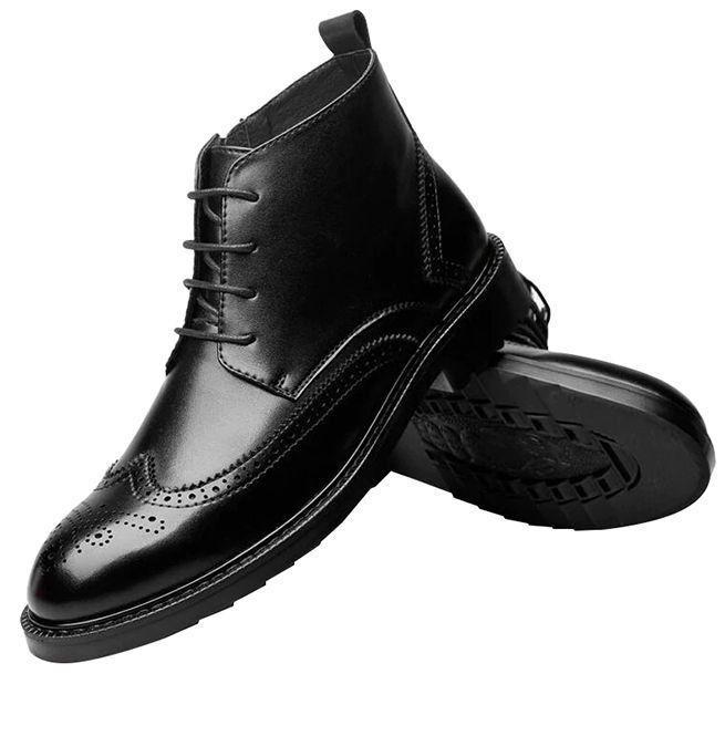 Men Boots Photography Men Shoes Genuine Leather Boots Mens Leather Boots Brogues Men
