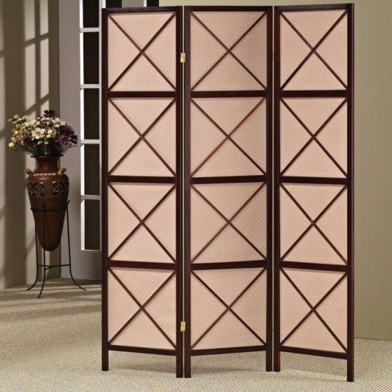 3 Folding Screen Panels Wood Cappuccino Finished Shoji Room Japanese Divider NEW