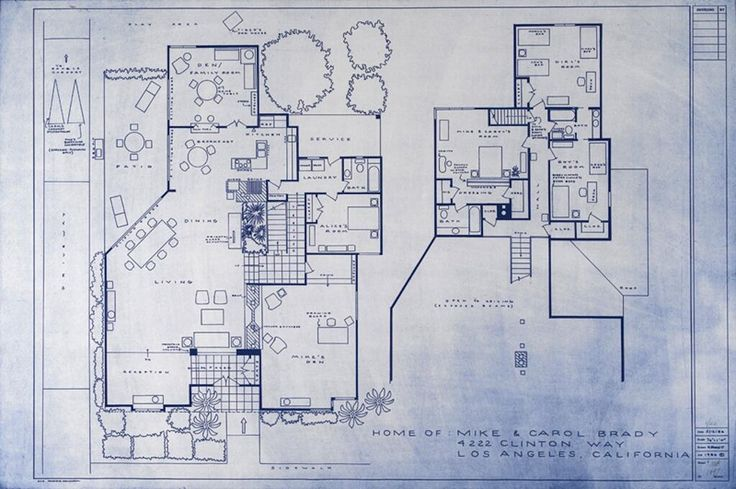 2302 best interesting plans images on pinterest vintage for Brady bunch house blueprints