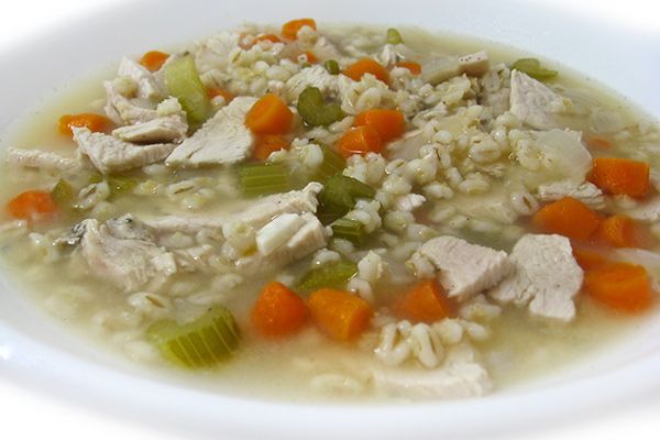 This classic recipe is one of my all-time favorites!Perfect to make with turkey leftovers. In addition to chunks of turkey, it's chock full of barley, carrots, celery and onions. Soooo yum…