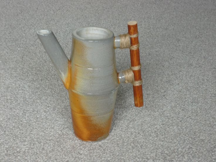 watering can, soda fired