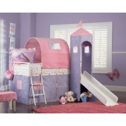 Purple baby room nursery