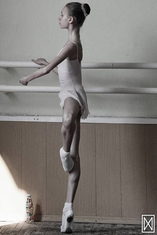 Anorexic looking balerina dancer