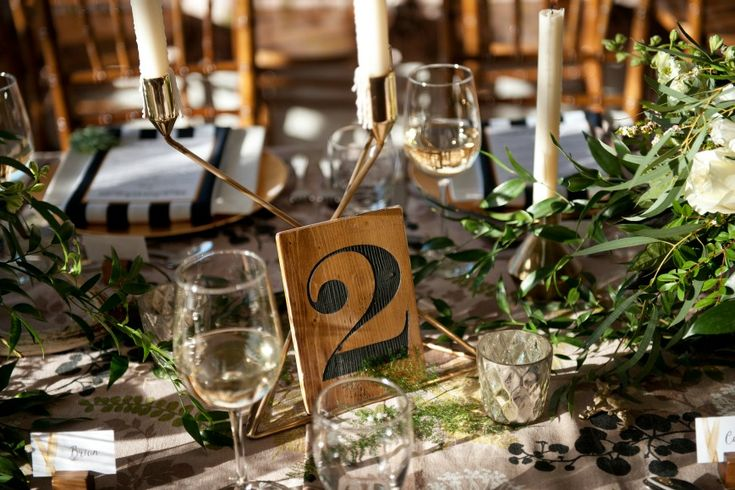Wood-table-number-wedding by Naturally Chic | Photo by Tara Whittaker Photography