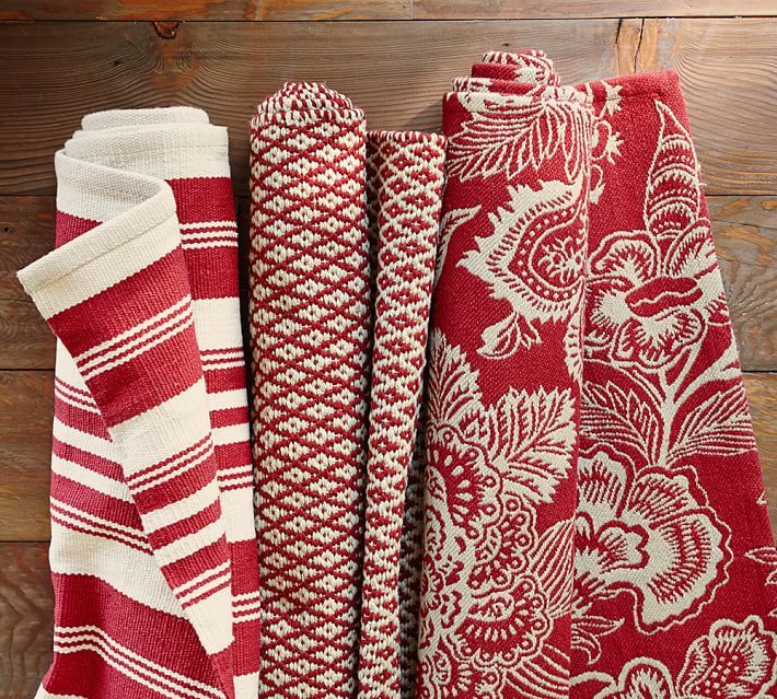Red And White Checkered Rug: Design Tip: You Can Add Subtle Pops Of Color To Any Room