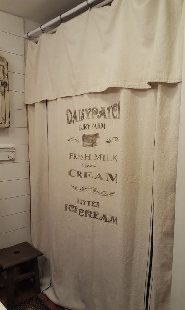 Pennies Primitives: Grain sack inspired Curtains Cow print  Cow shower curtain
