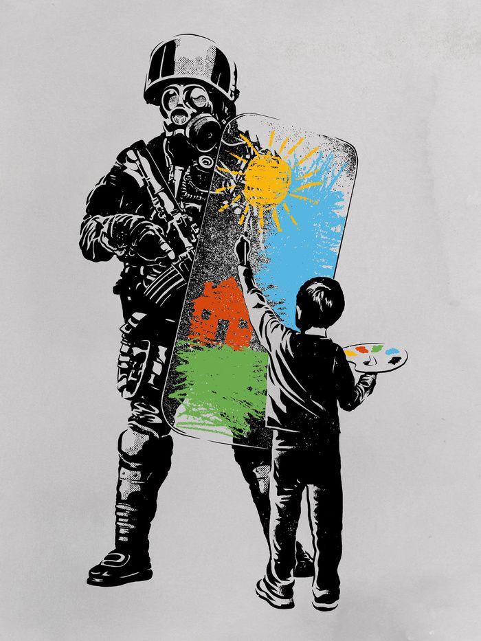 """Turmoil Paint"" Art Print by Rob Dobi on Society6."