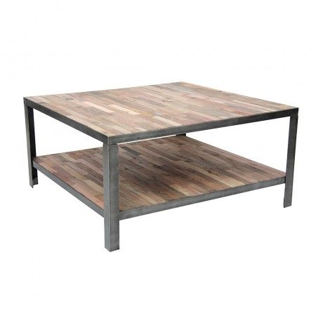 small square factory coffee table home living rooms pinterest. Black Bedroom Furniture Sets. Home Design Ideas