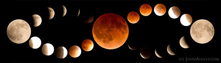 Photographer John Ashley created this striking mosaic of the blood moon phases during a total lunar eclipse on April 15, 2014 as seen from Kila in northwestern Montana. [See More Amazing Photos of the April 15 Total Lunar Eclipse]