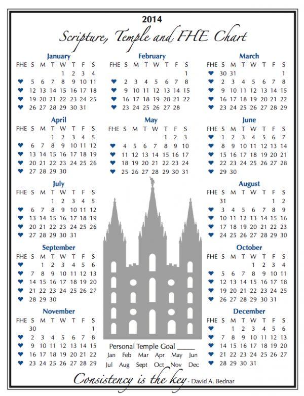 Scripture Reading Habit Made SUPER EASY…2014 Scripture Chart!!!!