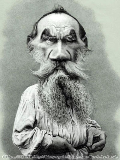 LEO  TOLSTOY- Russian Literature- illustration of Thierry Coquelet