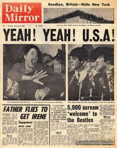 Their songs managed to appeal to parents and grandparents as well as the newly empowered teens and twenty-somethings speaking out for a new world order. Though the Beatles disbanded in 1970, their albums remain best-sellers. On 7 February 1964, the Beatles arrived at John F Kennedy airport in New York, greeted by thousands of screaming fans. This Daily Mirror article documents Beatlemania crossing the Atlantic, as the band dubbed the Fab Four arrived to play their first concerts in America.