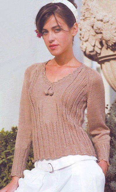 """вязаный спицами пуловер """"власть традиций"""""""
