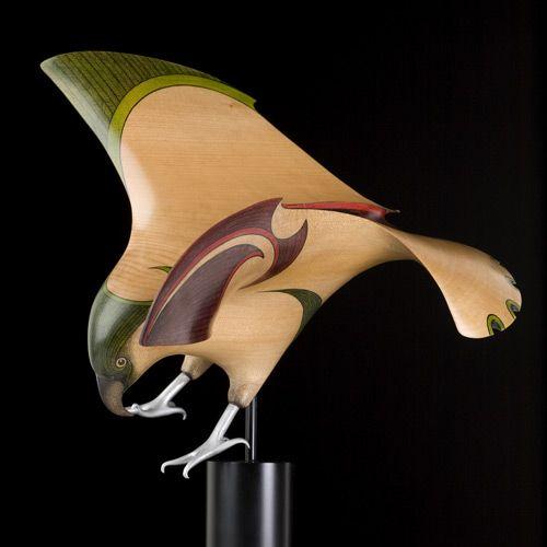 Kea • New Zealand Mountain Parrot by Rex Homan, Māori artist (KR80301)