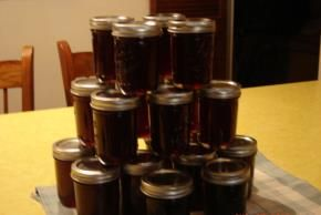 Concord Grape Jam - not jelly. Going to try this one this year, because we always pick way more grapes then we *need*.