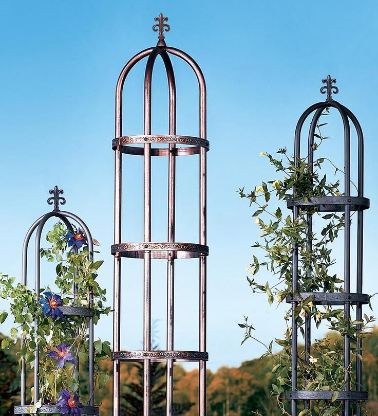 7' Decorative Garden Obelisk Made of Sturdy PowderCoated