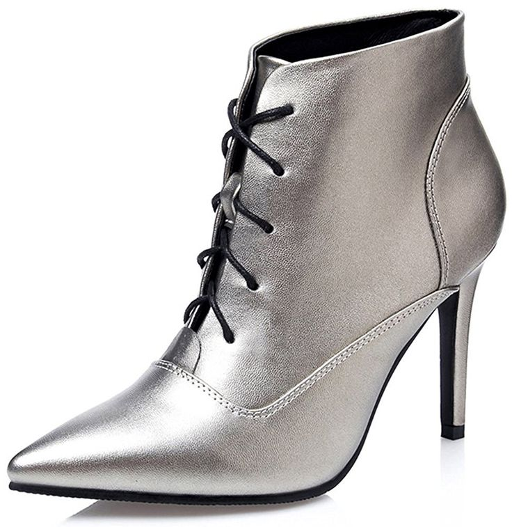 Colnsky Women's Sexy Pointed Toe Lace-up Club Booties Stiletto High Heels Ankle Boots New Style