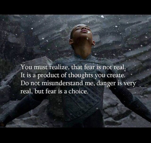 After Earth Will Smith quote #fear