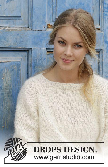 Pullover mit Raglanärmeln, gestrickt von oben nac…