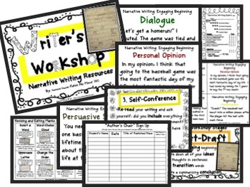 Common Core Standards Resources for Narrative Writing Genre! This unit lays the foundation for holding writing workshop in your classroom using the...