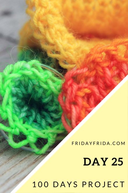 "Day 25: Quote 18: ""Let us be grateful to people who make us happy, they are the charming gardeners who make our souls blossom."" Marcel Proust Materials: Sock yarn and fishing line. Find…"